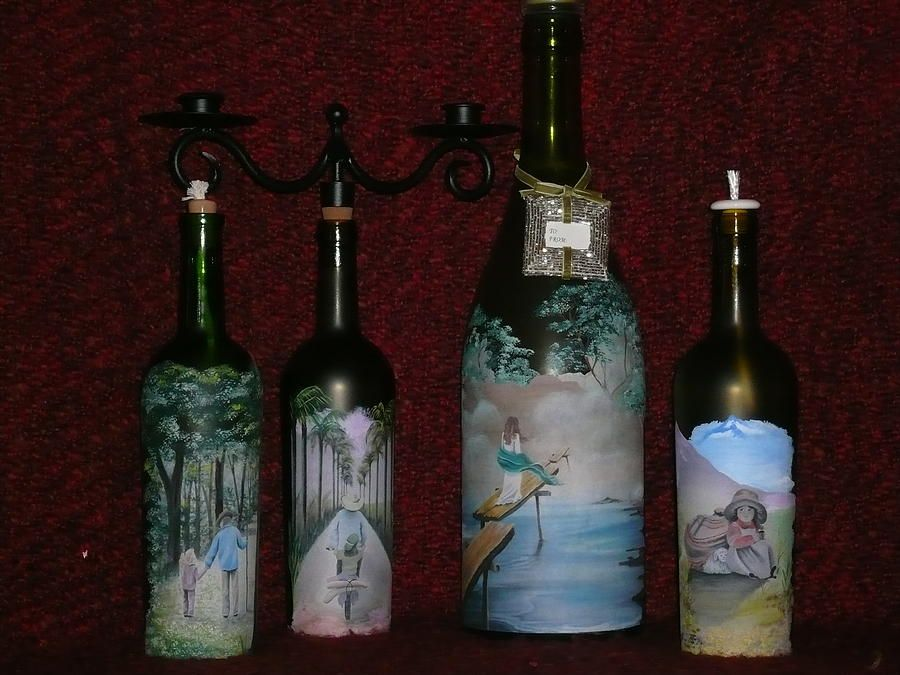 Wine bottle arts and crafts wine bottle crafts glass art for How to make wine bottle crafts