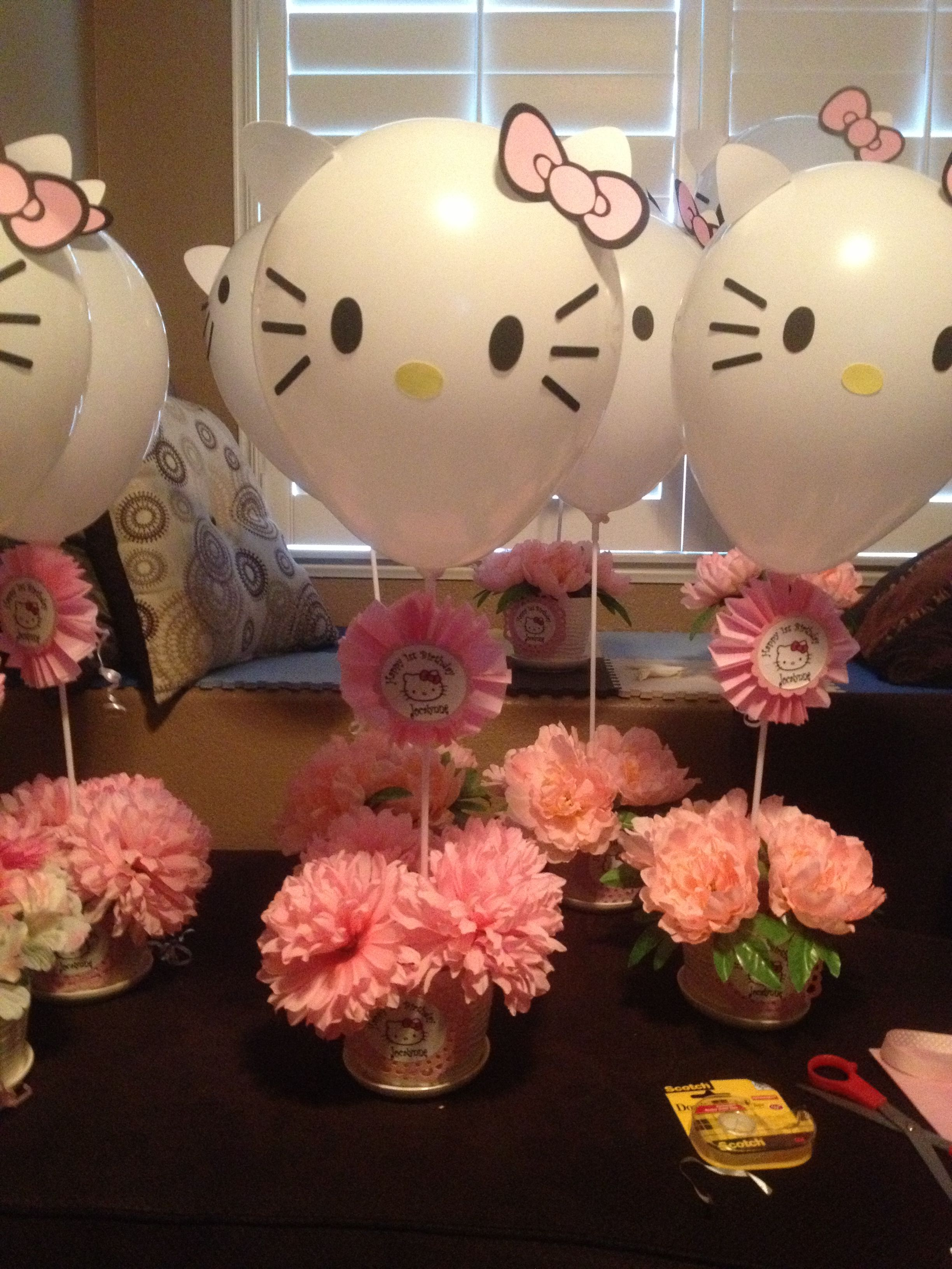 Hello Kitty Baby Shower Decorations : hello, kitty, shower, decorations, María, Florencia, Lottero, Kitty, Lovers, Hello, Centerpieces,, Birthday, Party,, Theme, Party