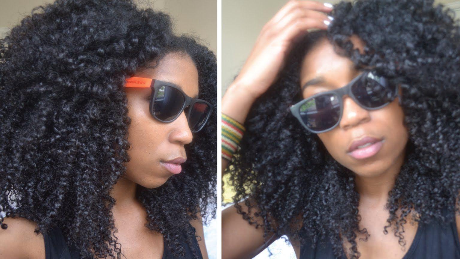 No Fuss Quick Summer Beach Curls! Natural Hair (+playlist