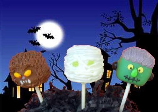 Werewolf, Mummy & Frankenstein Halloween Cake Pops