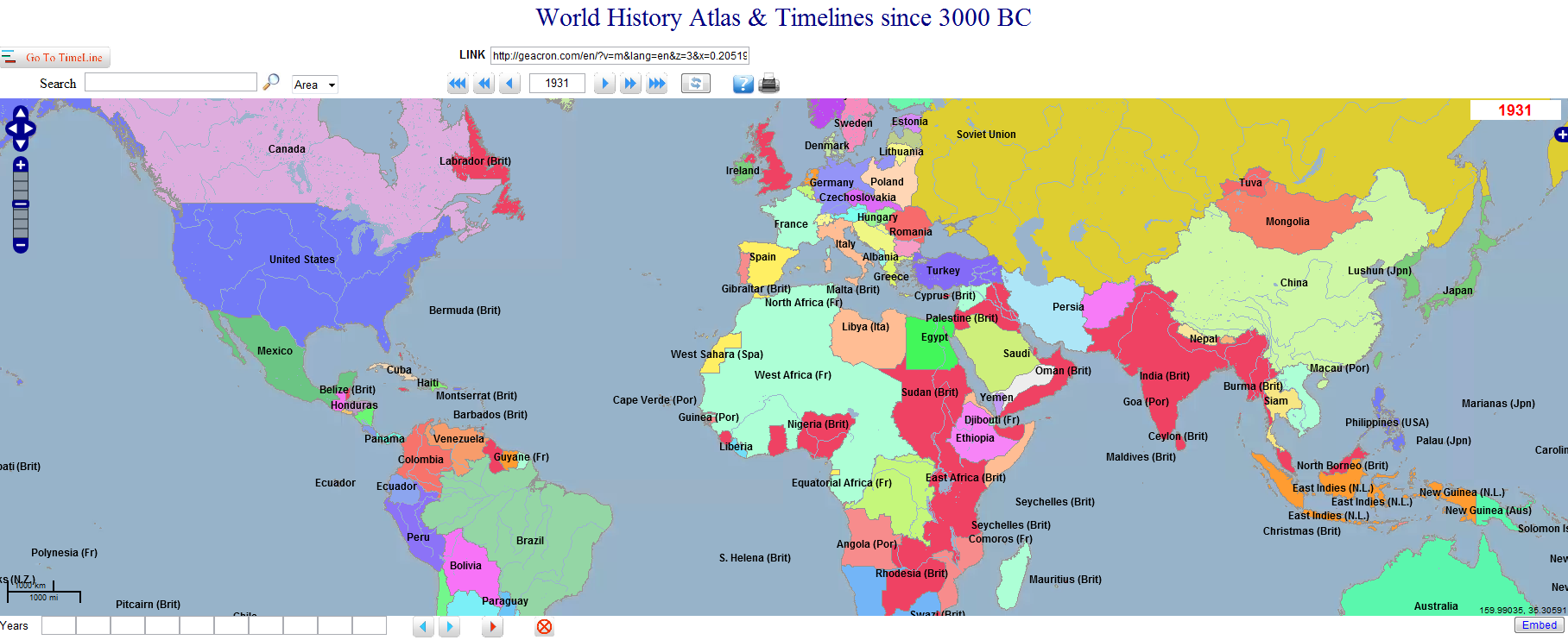 World history atlas and timelines since 3000 bce interactive interactive map 5015 years of world history 3000 bc up and until morelink to interactive map can be clicked through per year from 3000 bc up and gumiabroncs Image collections