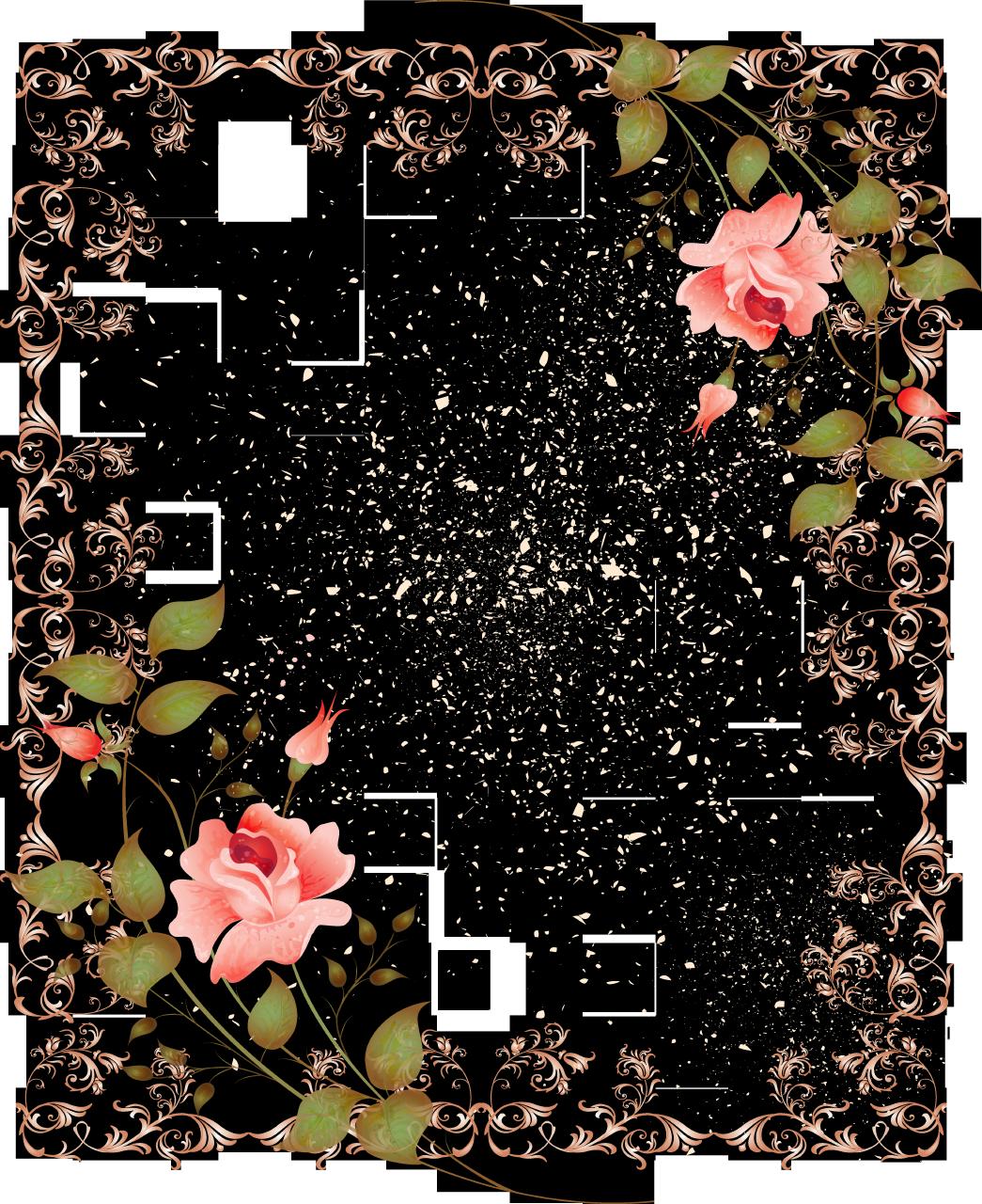 retrostylefloralborderpictureframepng 10452151280