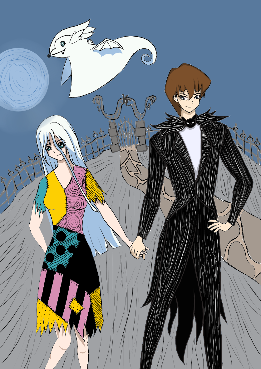 Kaiba and Kisara from Yugioh as Jack and Sally from Nightmare Before ...