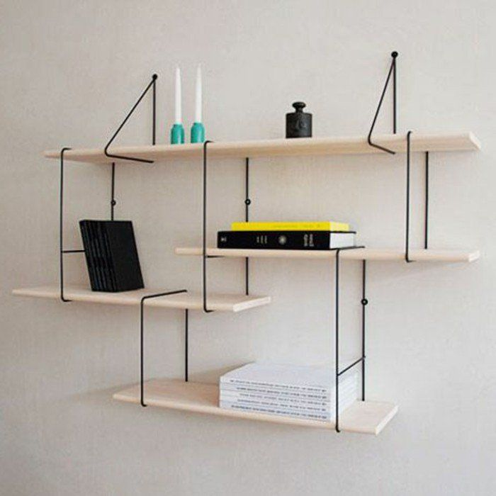 L tag re biblioth que comment choisir le bon design - Etagere bibliotheque bois ...