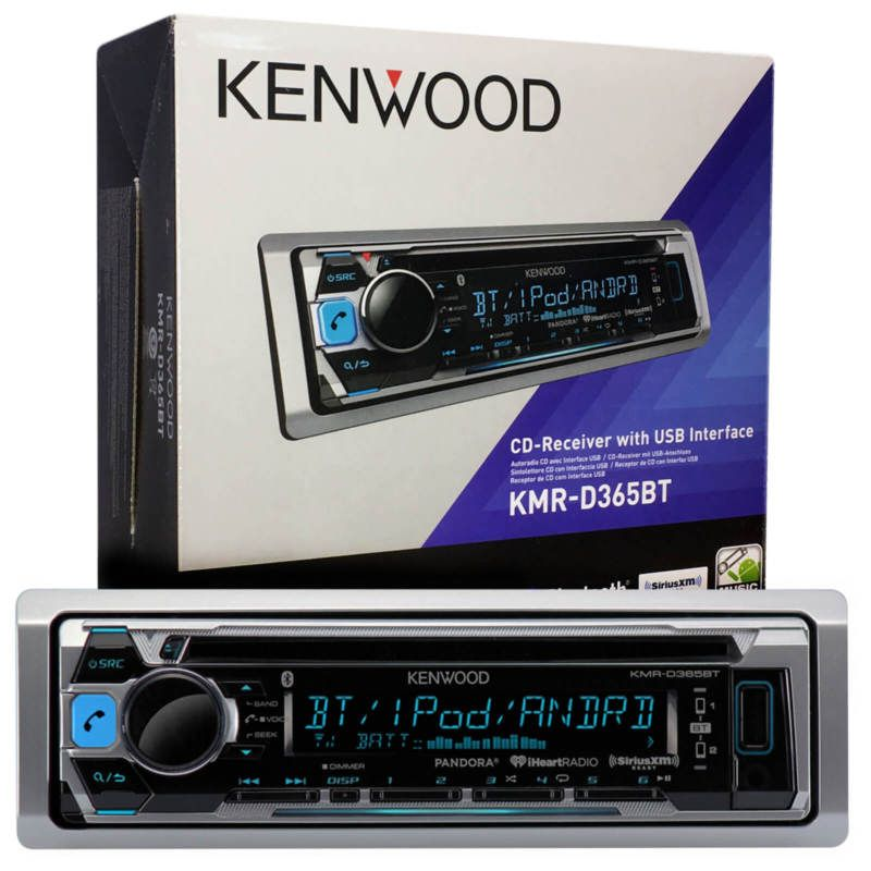 Kenwood Boat CD MP3 Radio Smartphone Receiver  W// Wired Remote /& 4 x Speakers