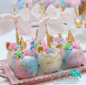 unicorn baby shower candy apples desserts theicedsugarcookiecom