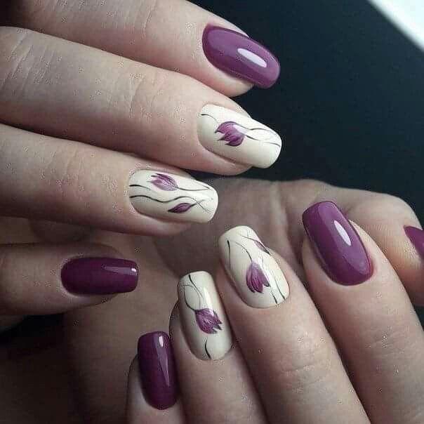 Tulipanes | diseño de uñas | Pinterest | Diseños de uñas, Arte de ...