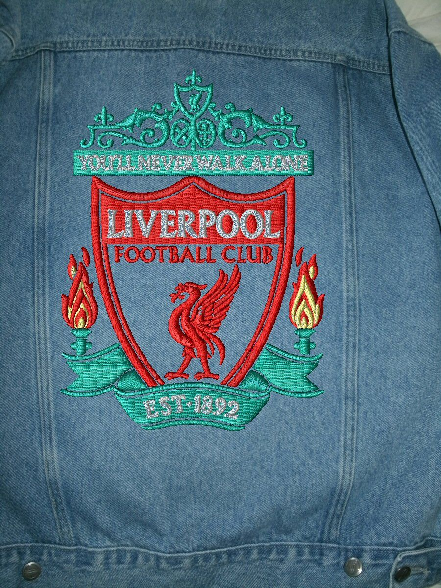 Liverpool F C Jean Jacket For Sale Football Club Liverpool Football Liverpool Football Club [ 1200 x 900 Pixel ]