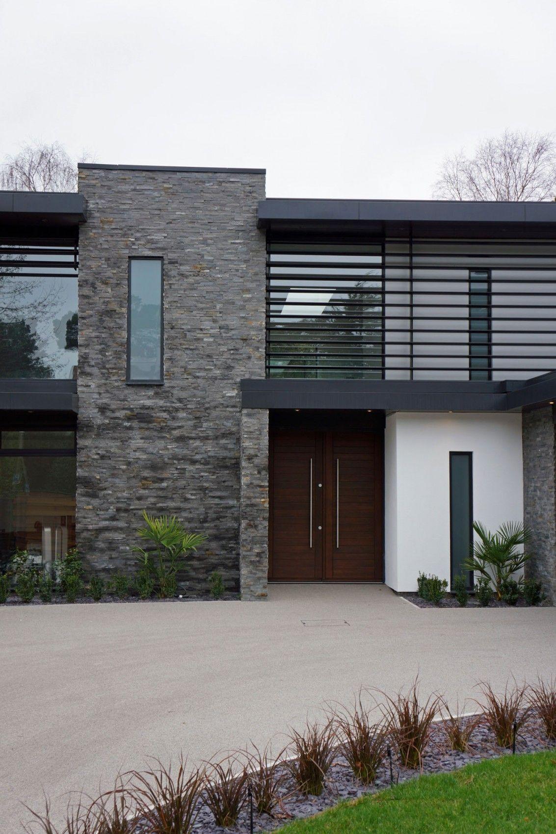 Couleur Exterieur Maison Contemporaine extérieur matériaux: pierre bois et couleur crème
