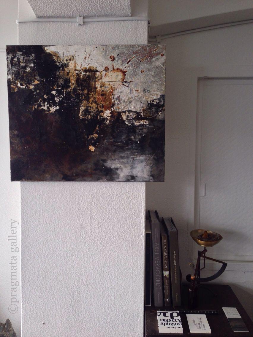 """""""Pragmata corner shop"""" Mix-media painting by Gaku Matsuoka. 530mm x 455mm 「プラグマタ 角店」 絵画、松岡学。#pragmata"""