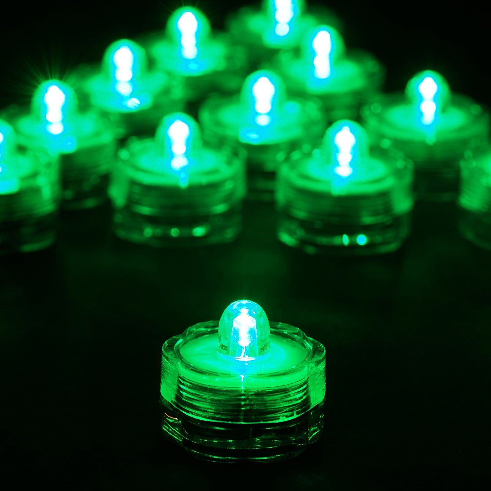 12 Pack Green Waterproof Battery Operated Submersible Led Lights In 2020 Submersible Led Lights Submersible Led Lights Centerpiece Lighted Centerpieces