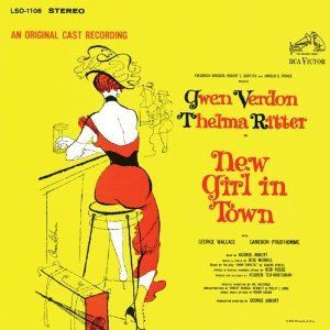 Cover of the original cast recording of the 1957 production of New Girl In Town.