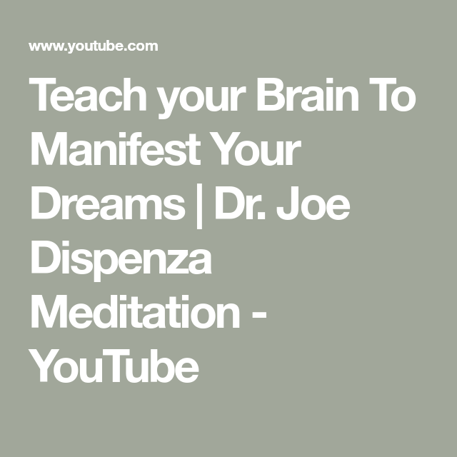 Top Five Dr Joe Dispenza Meditation Download - Circus