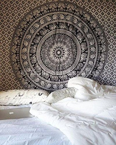 Decorations hippie wall urban tapestries cotton beach blanket boho picnic throw cotton bedding by trade star exports amazon fr cuisine maison