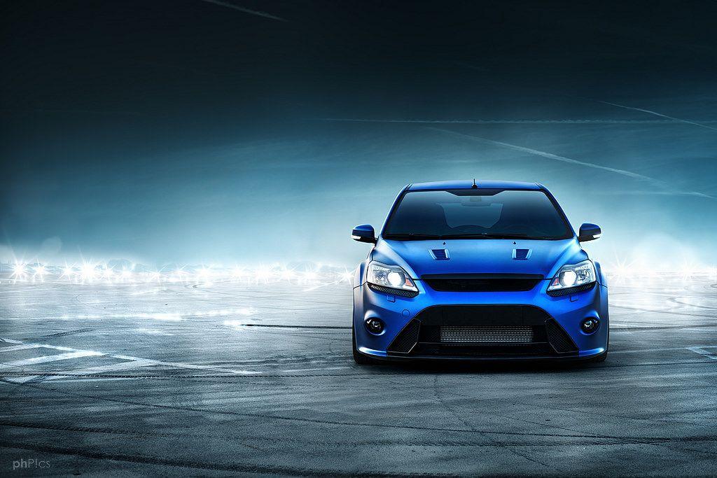matte blue ford focus rs mk2 ford focusrs matte blue lights shiny lurking cars voiture. Black Bedroom Furniture Sets. Home Design Ideas
