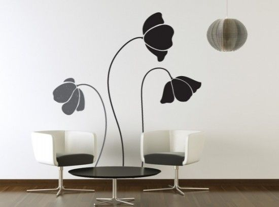 Love decorating with wall decals. They are inexpensive and fast.