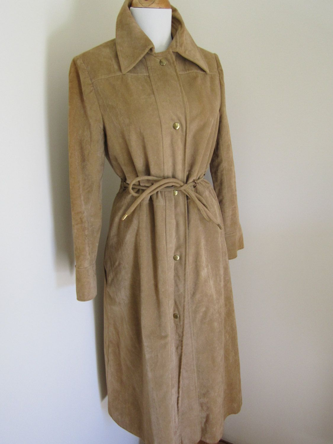 1970s Tan Velveteen Snap Front Maxi Coat XSmall by petgirlvintage on Etsy https://www.etsy.com/listing/163787458/1970s-tan-velveteen-snap-front-maxi-coat