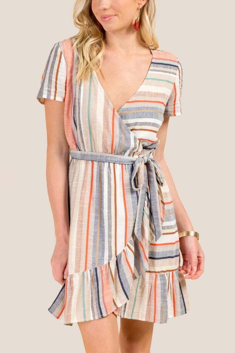 Ann Striped Wrap Dress Francesca S Wrap Dress Dresses Womens Dresses [ 1200 x 800 Pixel ]