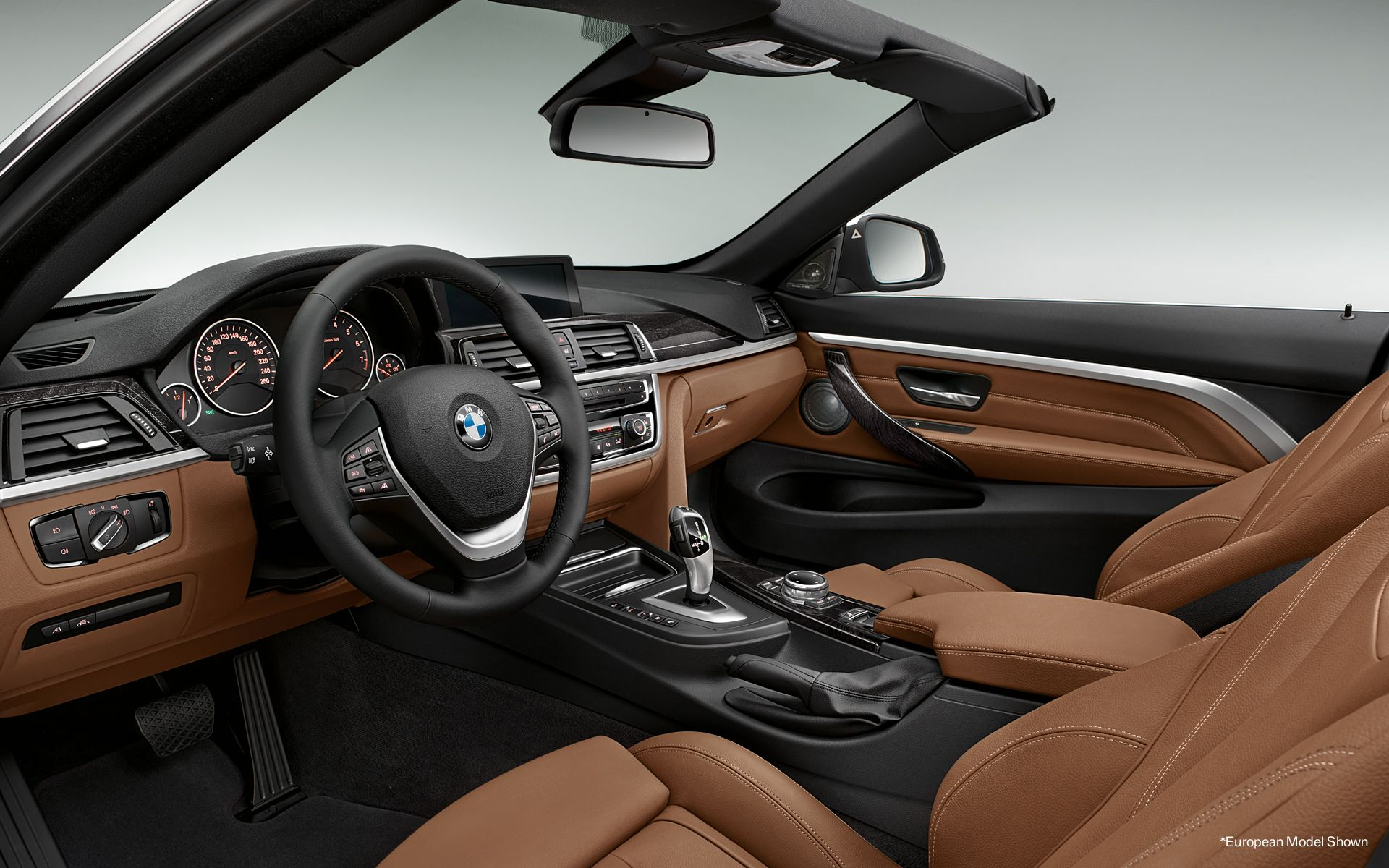 the 4 series convertible interior with dakota leather in saddle brown manual autos. Black Bedroom Furniture Sets. Home Design Ideas