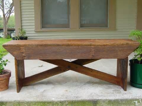 Rustic Wooden Bench For End Of Bed Yahoo Image Search Results Barn Wood Barn Wood Crafts Barn Wood Projects