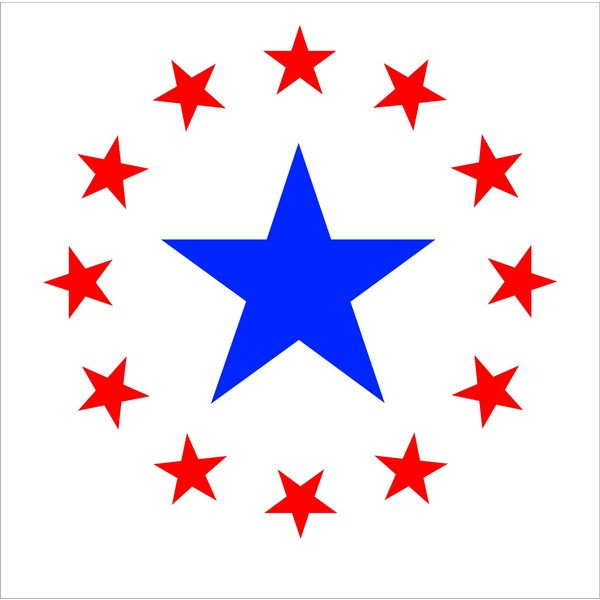 Us Flag Stars Stencil Available In 8 Sizes Create Patriotic Signs