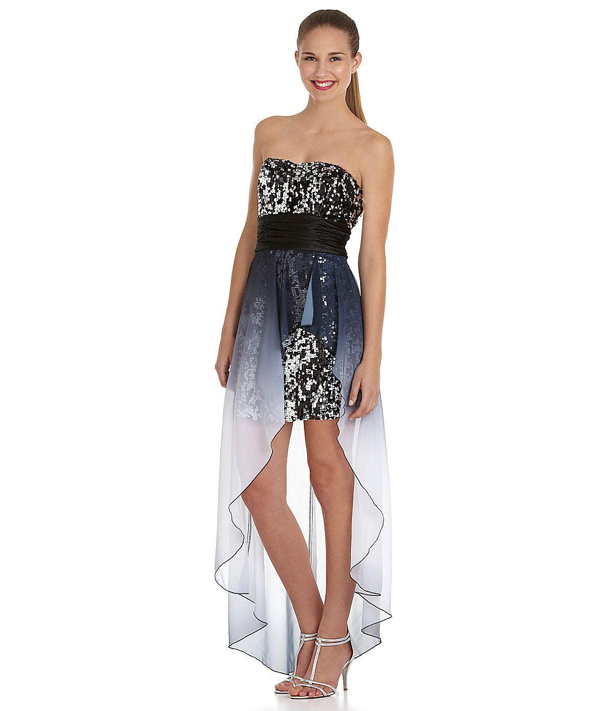 Black high low dress dillards