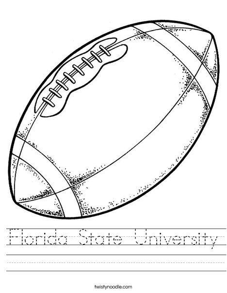 Florida State University Worksheet Twisty Noodle Football