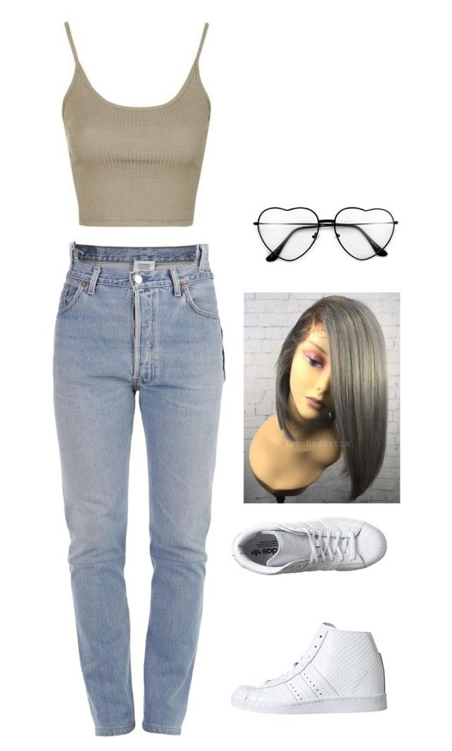 """""""hey"""" by minnamny ❤ liked on Polyvore featuring Topshop, Vetements and adidas Originals"""