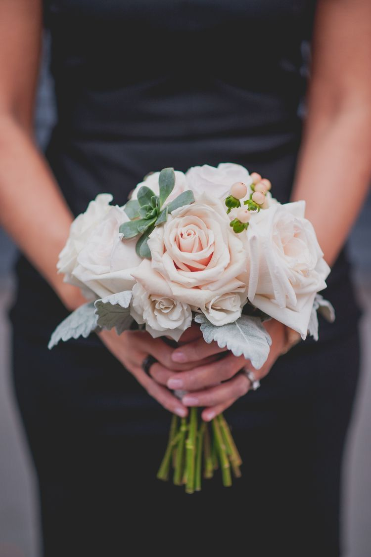 Simple bridesmaid bouquets by Shelly's floral dreams on Succulents in Weddings | Small wedding ...
