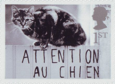 Cats and Dogs 1st Stamp (2001) Cat on Gate