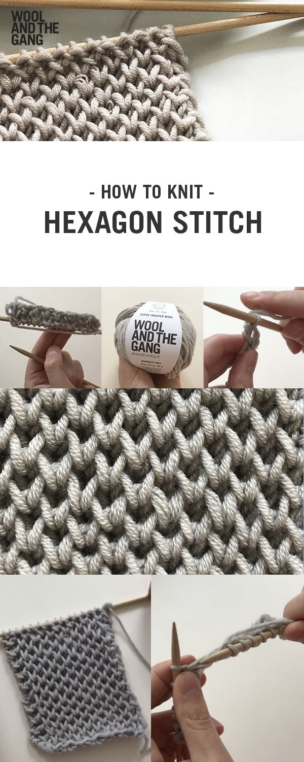 How To Knit: Hexagon Stitch