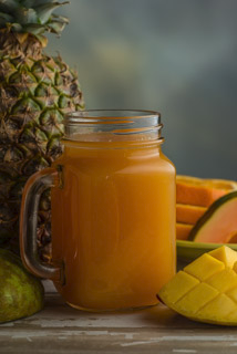 About the Recipe Nothing says the tropics like this juice. The combination of guava and mango is amazing. Remember, I'm not neglecting anything from the rest of this all-star cast. You are going to become addicted to this juice.