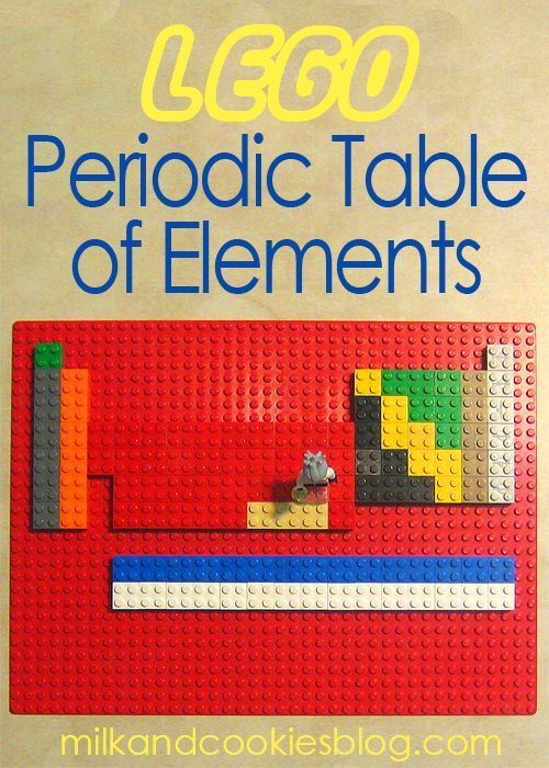Lego periodic table of elements science lapbooksactivities how to make your own lego periodic table of elements to create this table you will need 11 different colors of 2 x 2 bricks urtaz Images