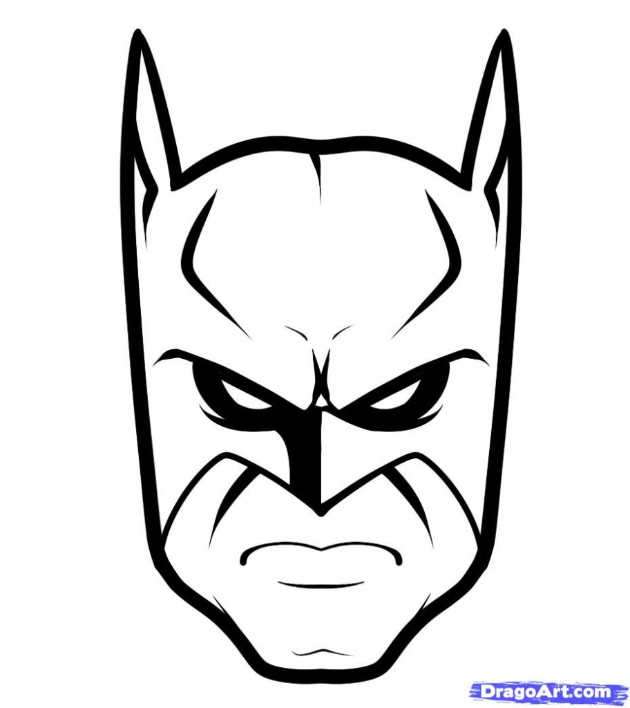 How To Draw Batman Easy Step 6