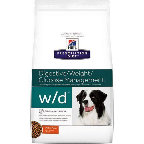 Hills Prescription Diet Wd Digestive Weight Glucose Management Chicken Flavor Dry Dog Food 85 Lb Click On T Dog Food Recipes Dry Dog Food Food Sensitivities