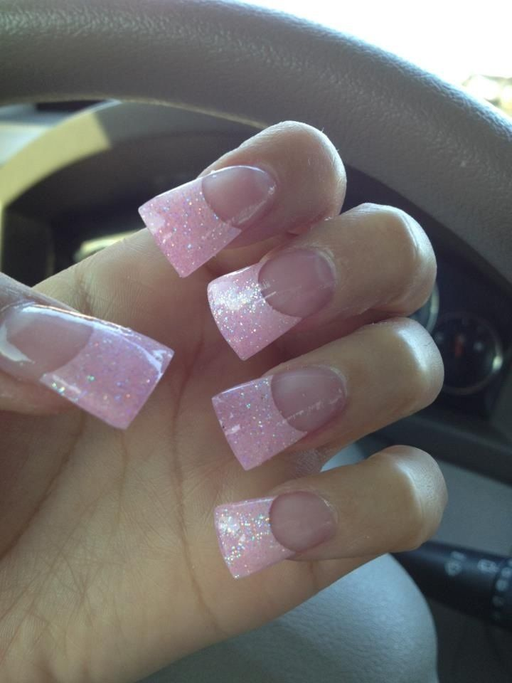 Wide tip nails! ❤ | Rhinstone Nails | Pinterest