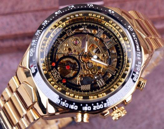 bf434d8bcb3 Relógio de Luxo Aço Inox - Winner (Frete Grátis para todo Brasil ...