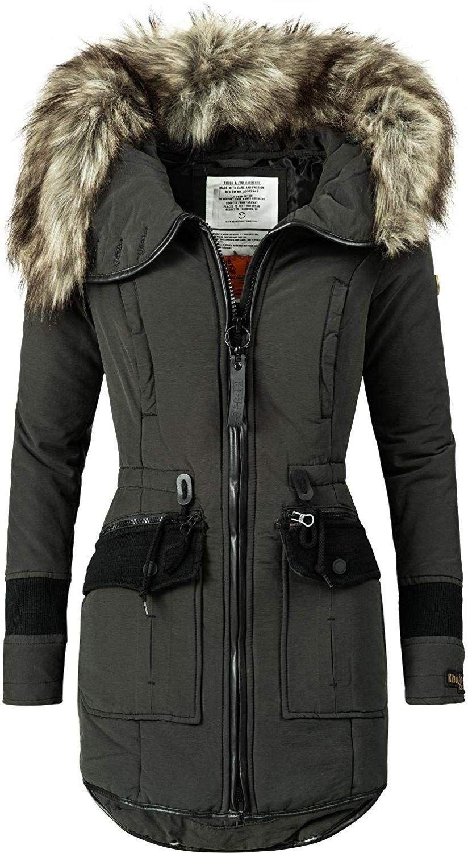 Khujo Damen Wintermantel Winterparka Mit Kapuze Retro Bugs Schwarz018 Gr Xs Amazon De Bekleidung Abrigos Mujer Chaquetas Abrigos