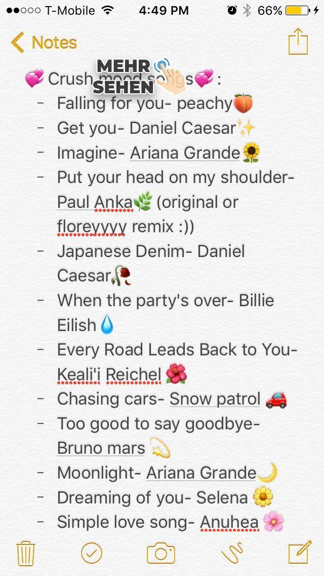 Dies sind nur die Songs, die ich höre, wenn ich an meinen Schwarm denke 🙃💞. ... - #