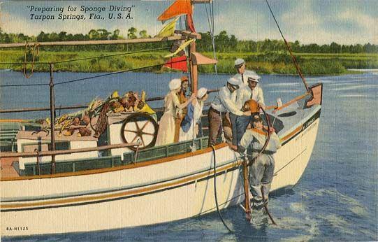 Preparing for Sponge Diving in Tarpon Springs  [1938]
