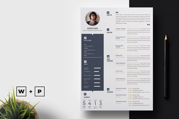Word Resume template by AutumnTemplate on @creativemarket office - resume form