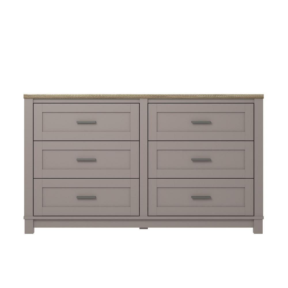 Ameriwood Viola Gray Light Brown 6 Drawer Dresser Hd13068 The Home Depot Dresser Drawers 6 Drawer Dresser Brown Dresser [ 1000 x 1000 Pixel ]