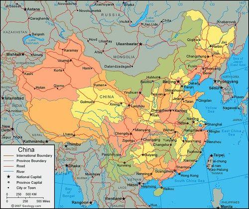 Mapa De China Completo En Espanol Con Ciudades China Map