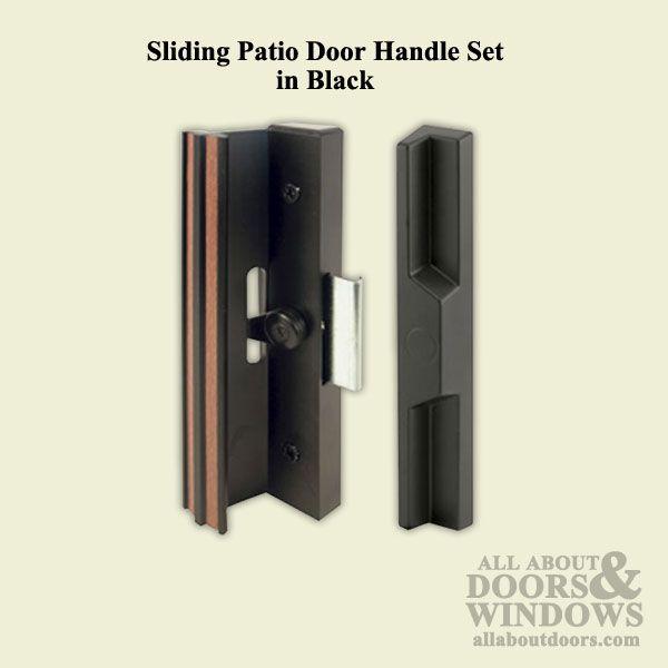 Handle Set Sliding Patio Door Extruded Aluminum Diecast Black