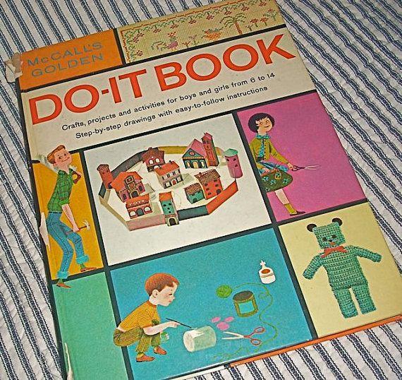 Vintage McCalls Golden Do It Book Crafts Kids 1960