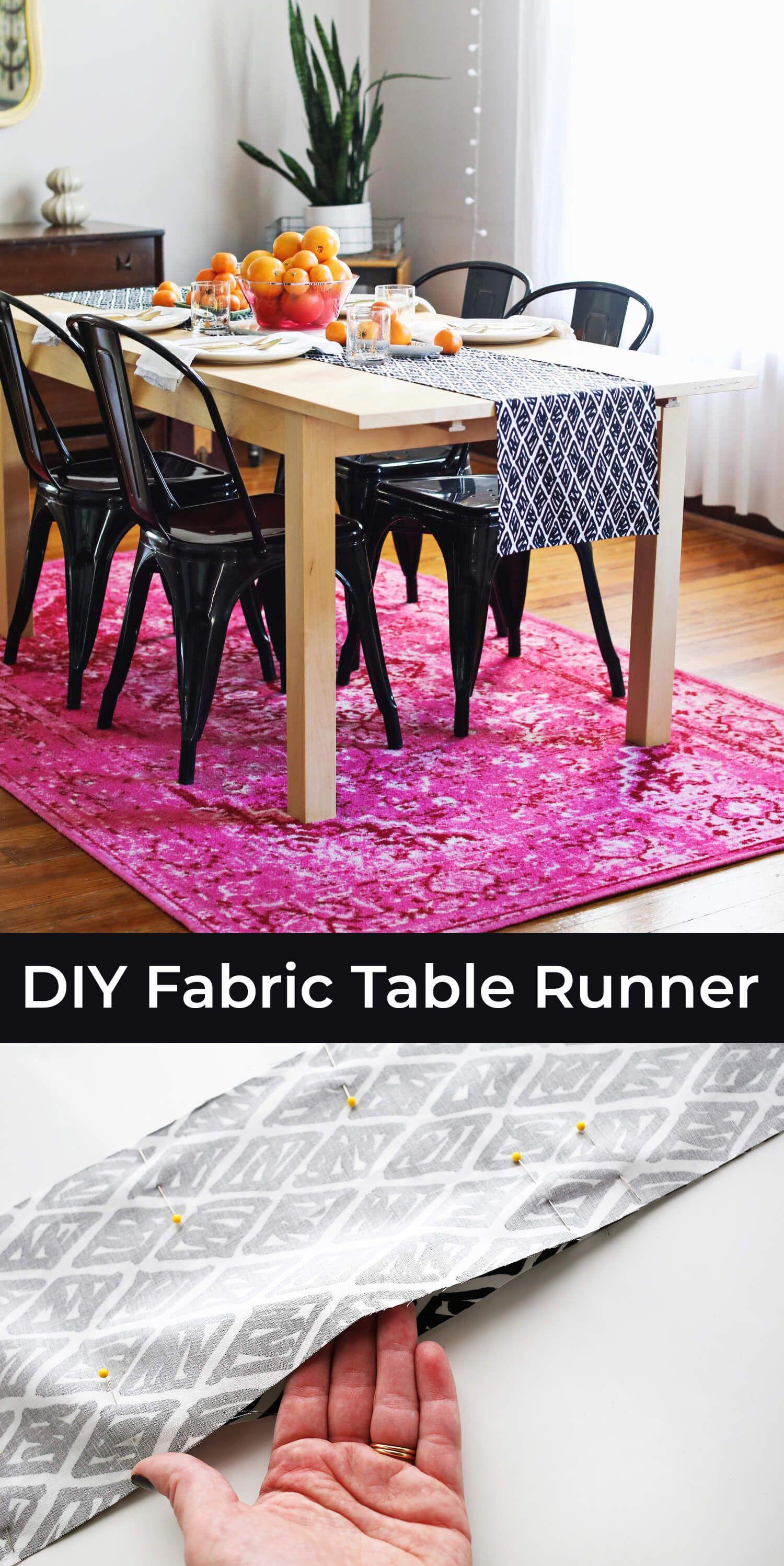 Diy modern table runner a beautiful mess modern table