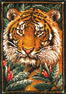 Jungle Tiger 30 X 46 Latch Hook Rug Kit A Great Addition To