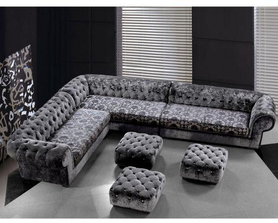 Contempo Chesterfield Corner Sofa By Denelli Italia Sofas
