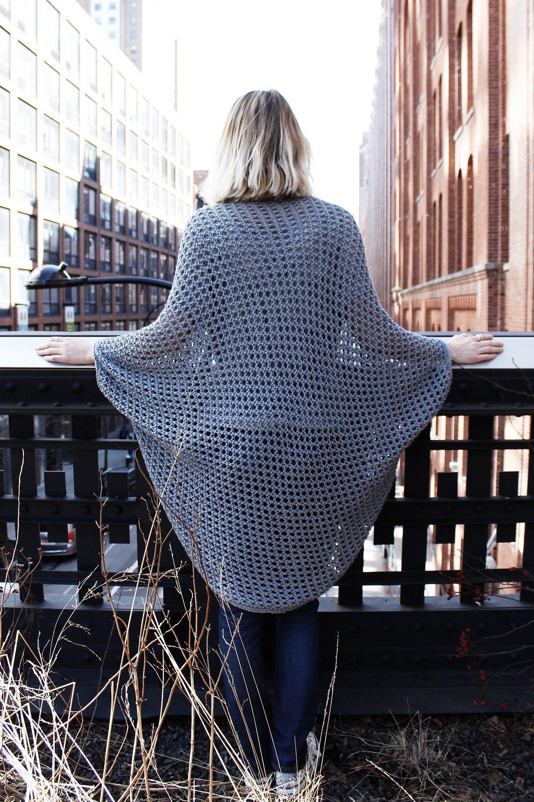 Chelsea Cape Cardigan By Alexandra Tavel - Free Knitting Pattern ...