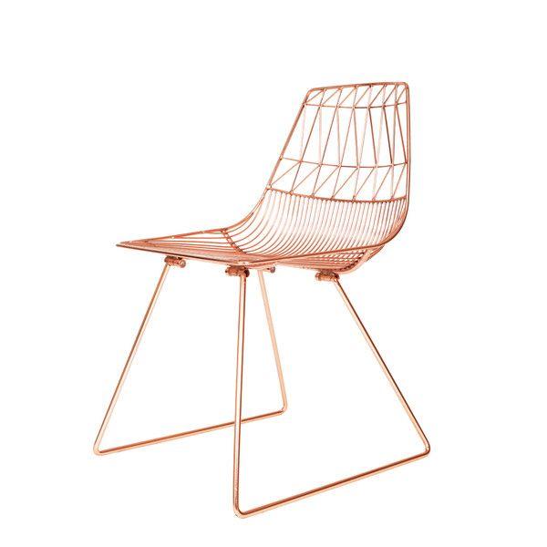 triangle copper bertoia wire chair steel | architecture of